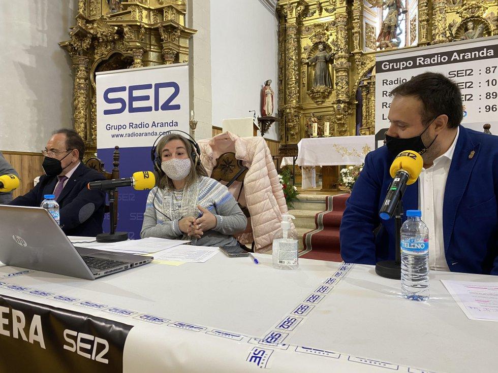 Elena Lastra, en compañía de Ángel Guerra y Alberto Rasero