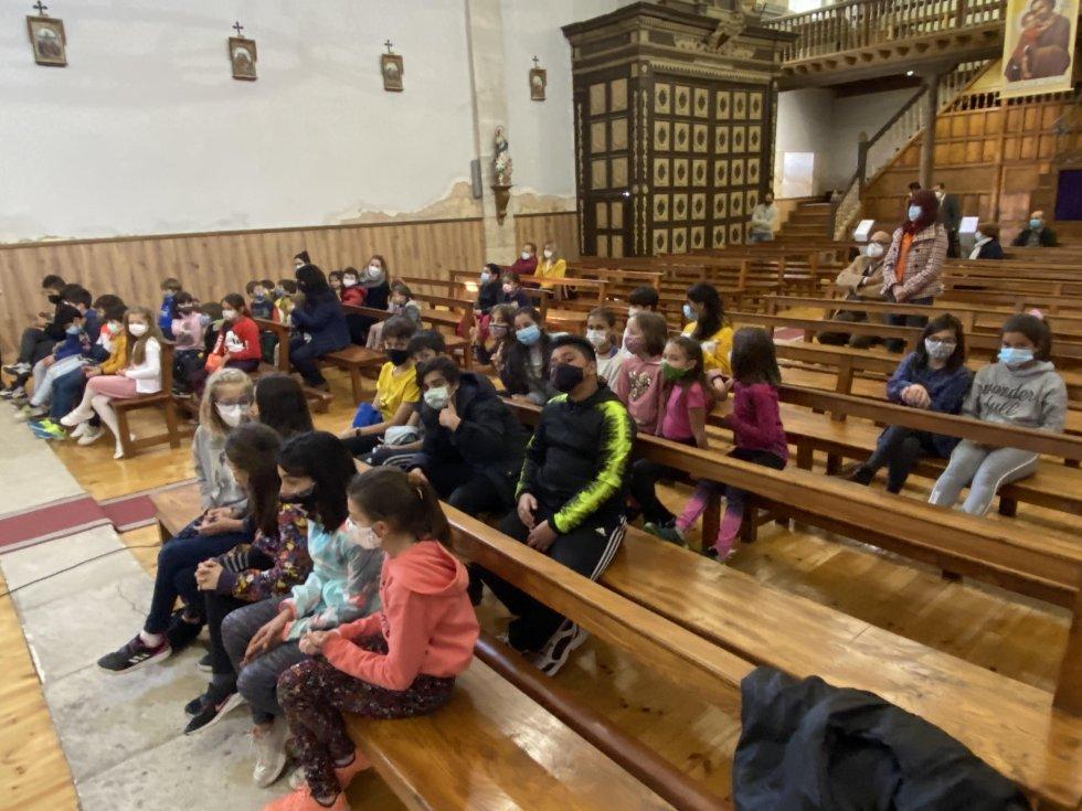 Los niños del CRA Riberduero, espectadores de primera