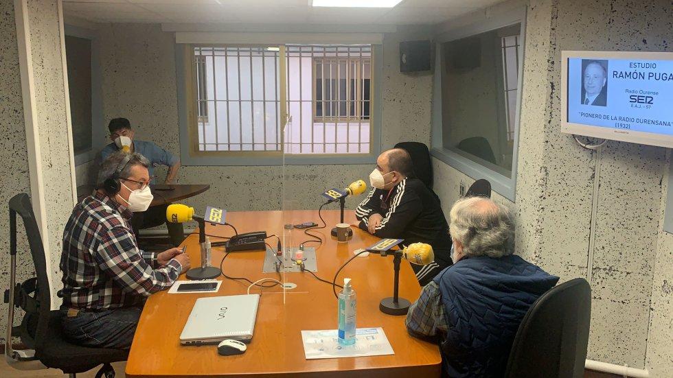El estudio Ramón Puga durante la emisión de SER Deportivos Ourense