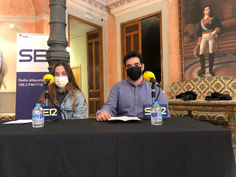 María Felicita Moreno y Javier Aparicio, jóvenes que participan en el proyecto 'Erasmus Plus, Repoblando Futuro'