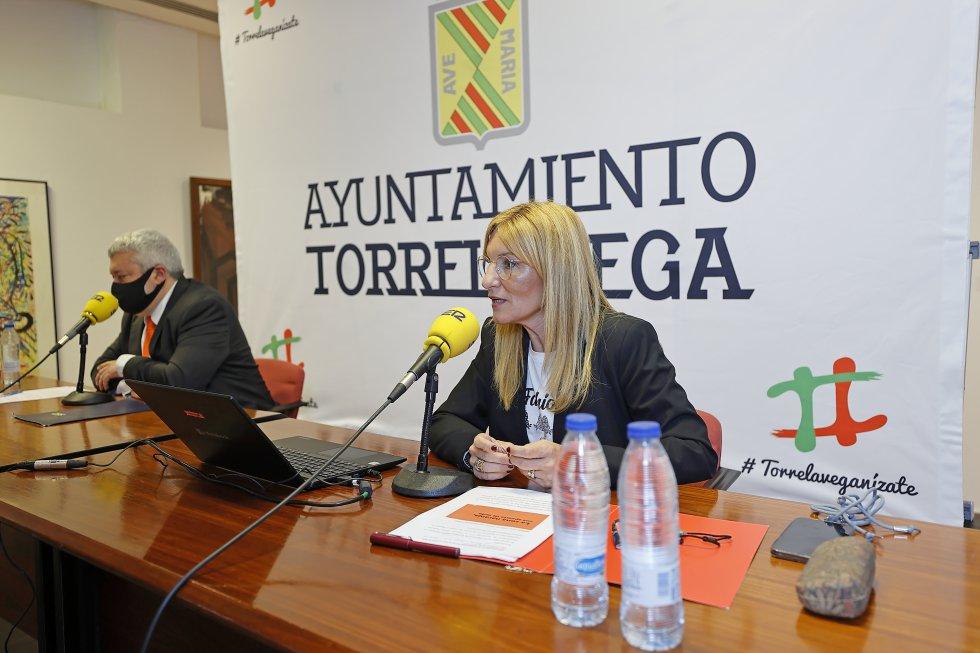 La alcaldesa de Rubí, Ana María Martínez, durante su intervención.