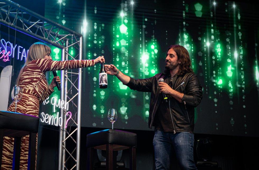 Patricia Imaz brindó con el vino Andrés Suárez