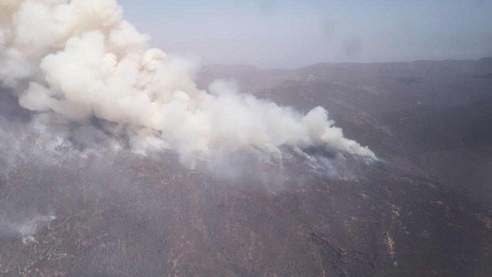 Imágenes aéreas incendio Tenerife