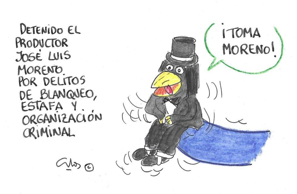 la viñeta de Villanueva, ¡Toma Moreno!