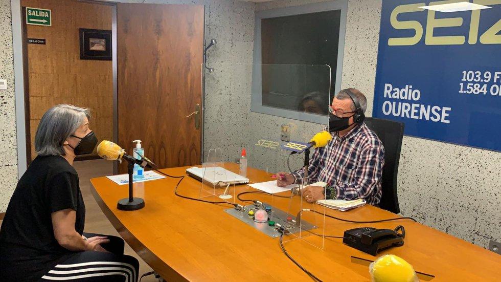 El estudio Ramón Púga durante la emisión de Ser Deportivos Ourense