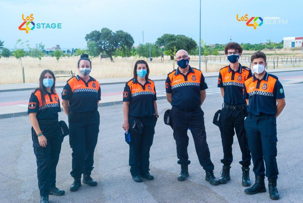 Gracias al dispositivo de Protección Civil en LOS40 Stage con Nil Moliner en Casar de Cáceres