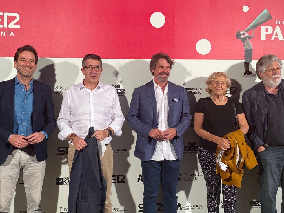 Borja Sémper, Patxi López, Teodoro León Ross, Manuela Carmena y Joaquín Estefanía
