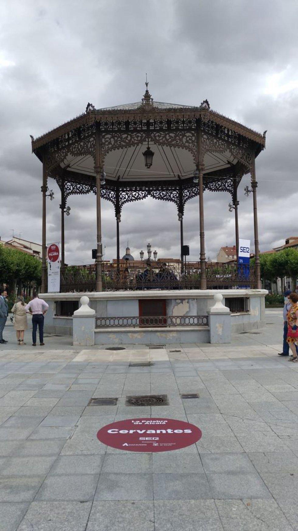 El quiosco de la música de la Plaza Cervantes