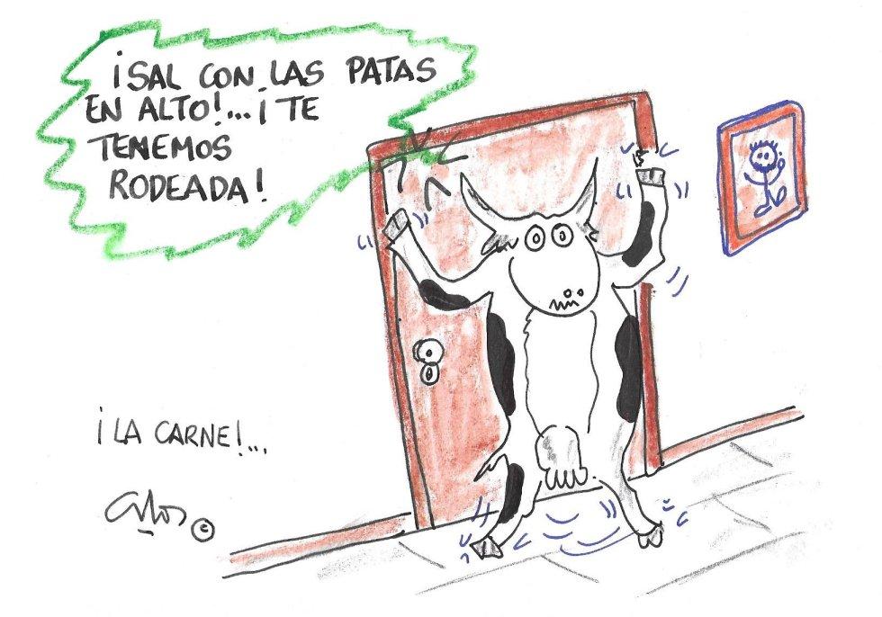 La viñeta de Villanueva, la carne