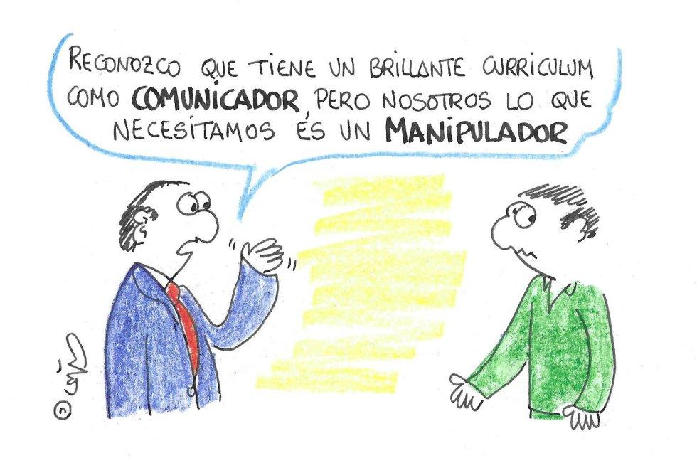 La viñeta de Villanueva, comunicador