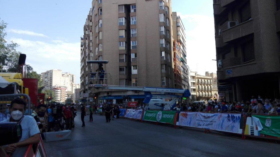Los albaceteños han acudido al Parque Lineal para presenciar el final de etapa