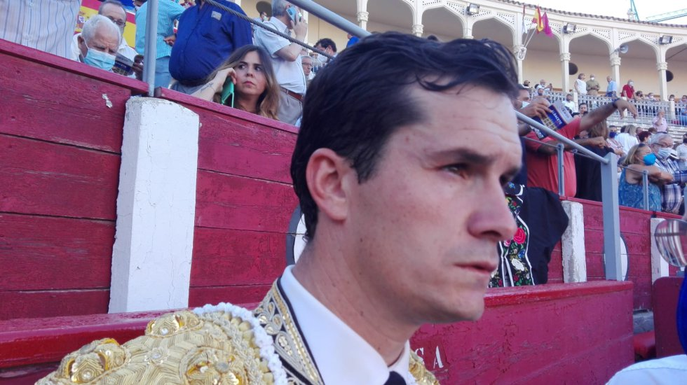 Daniel Luque, concentrado antes de enfrentarse a su segundo toro