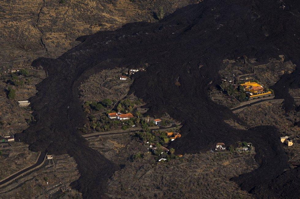 Fotografías de La Palma hechas desde el aire por el periodista español ganador del premio Pulitzer, Emilio Morenatti (Cedida)