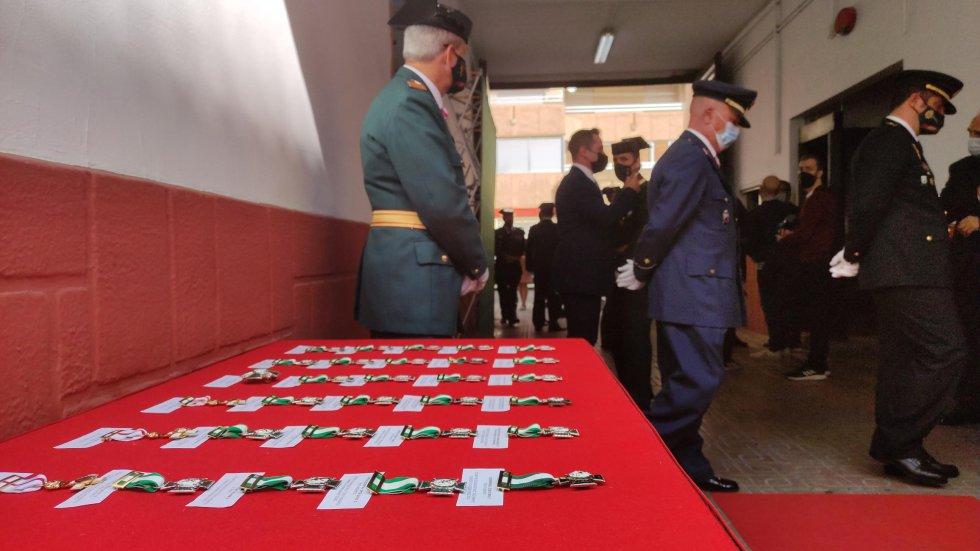 Las condecoraciones de la Guardia Civil