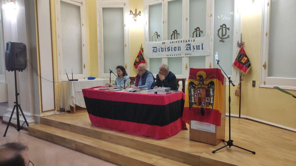 Albacete acogió un homenaje a la División Azul en la que se mostró simbología franquista