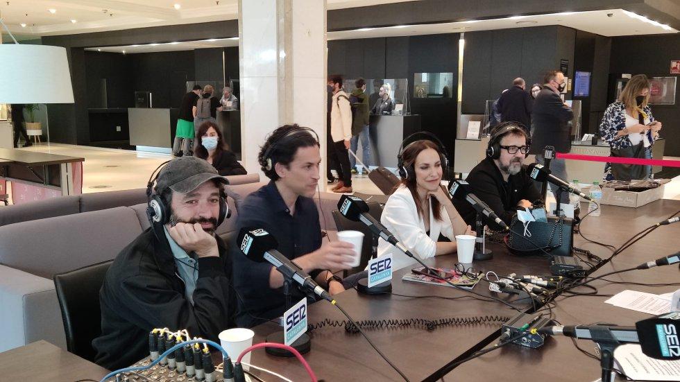 """Els quatre directors del retorn de """"Historias para no dormir"""", Rodrigo Sorogoyen, Rodrigo Cortés, Paula Ortiz i Paco Plaza"""
