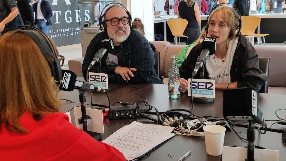 """El director Alex de la Iglesia i l'actriu Ingrid García-Jonsson, que van presentar """"Veneciafrenia"""" al Festival de Sitges 2021"""