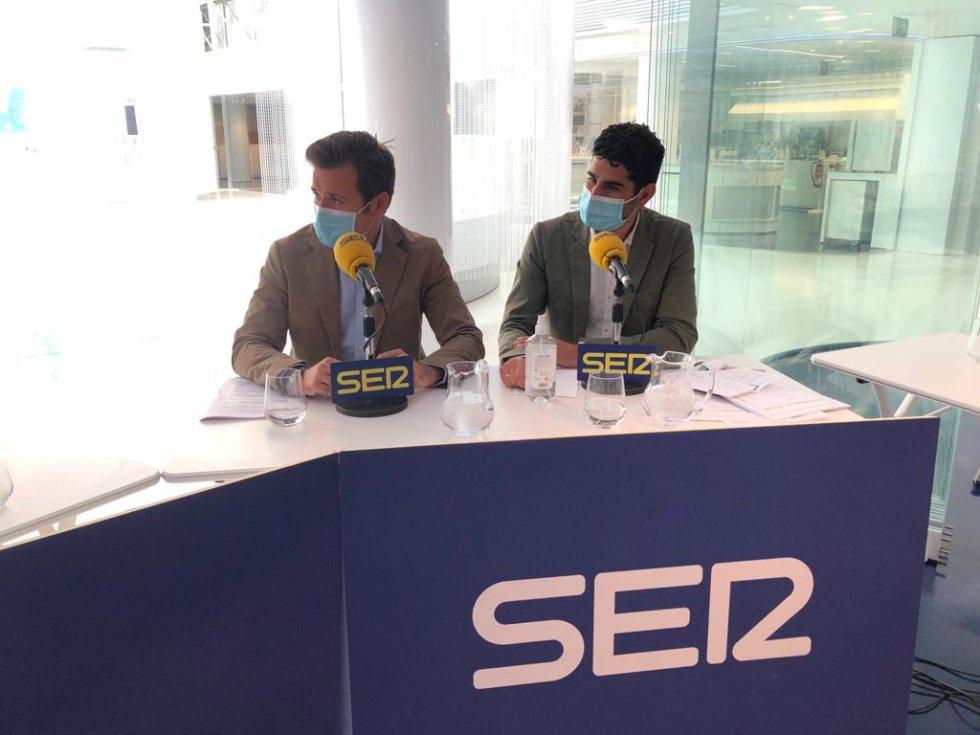 Julián Martínez, director del CIAb, y el concejal José González