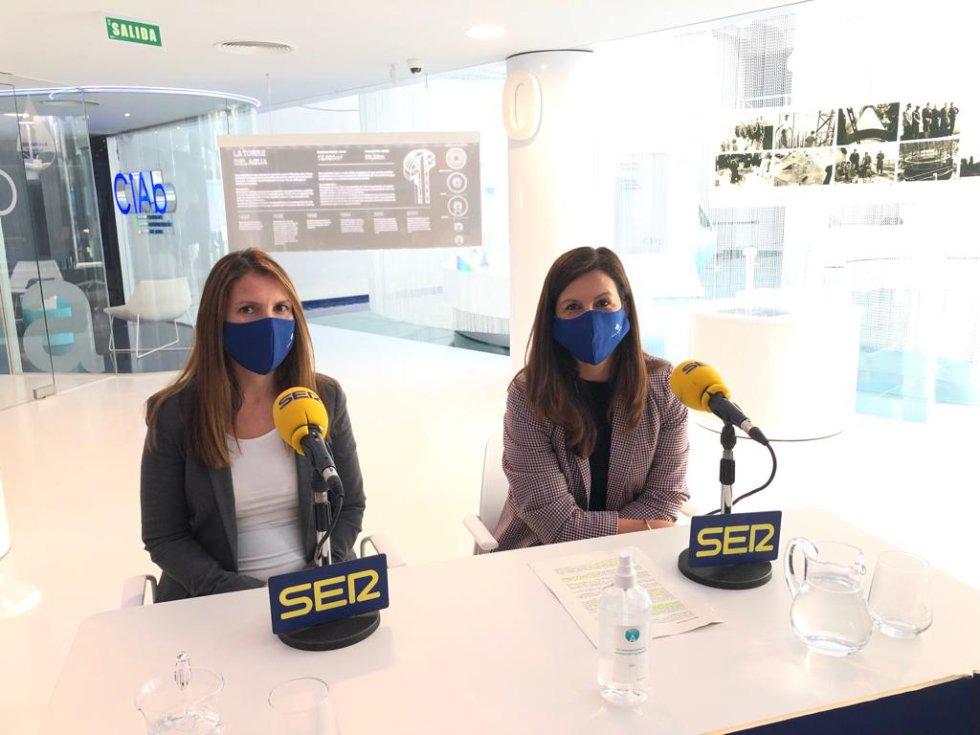 Natalia Martínez y Nazareth Córdoba, de Aguas de Albacete