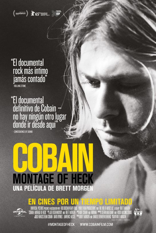 Póster del cartel del documental sobre Kurt Cobain