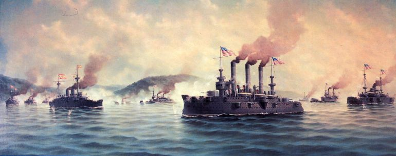 El ejército español aplasta a la armada estadounidense en Cuba