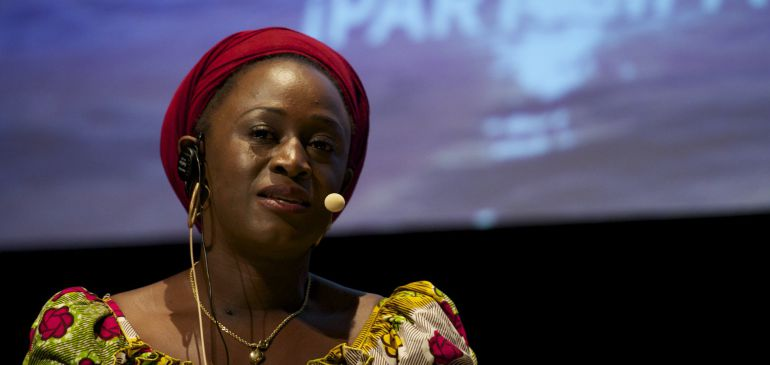 MADRID, SPAIN - OCTOBER 07:  Caddy Abzuba attends a symposium on gender violence at Circulo de las Bellas Artes on October 7, 2015 in Madrid, Spain. The woman 4 change solidarity bracelets will be launched during the event, from which profits will go to AFIDEP, association vistimas that protects women from violence in the Democratic Republic of Congo.  (Photo by Juan Naharro Gimenez/Getty Images)