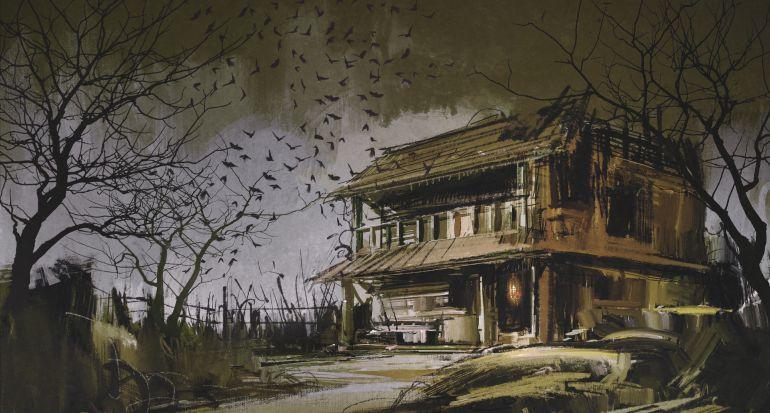 Resultado de imagen de iMÁGENES DE vieja casa bajo tormenta