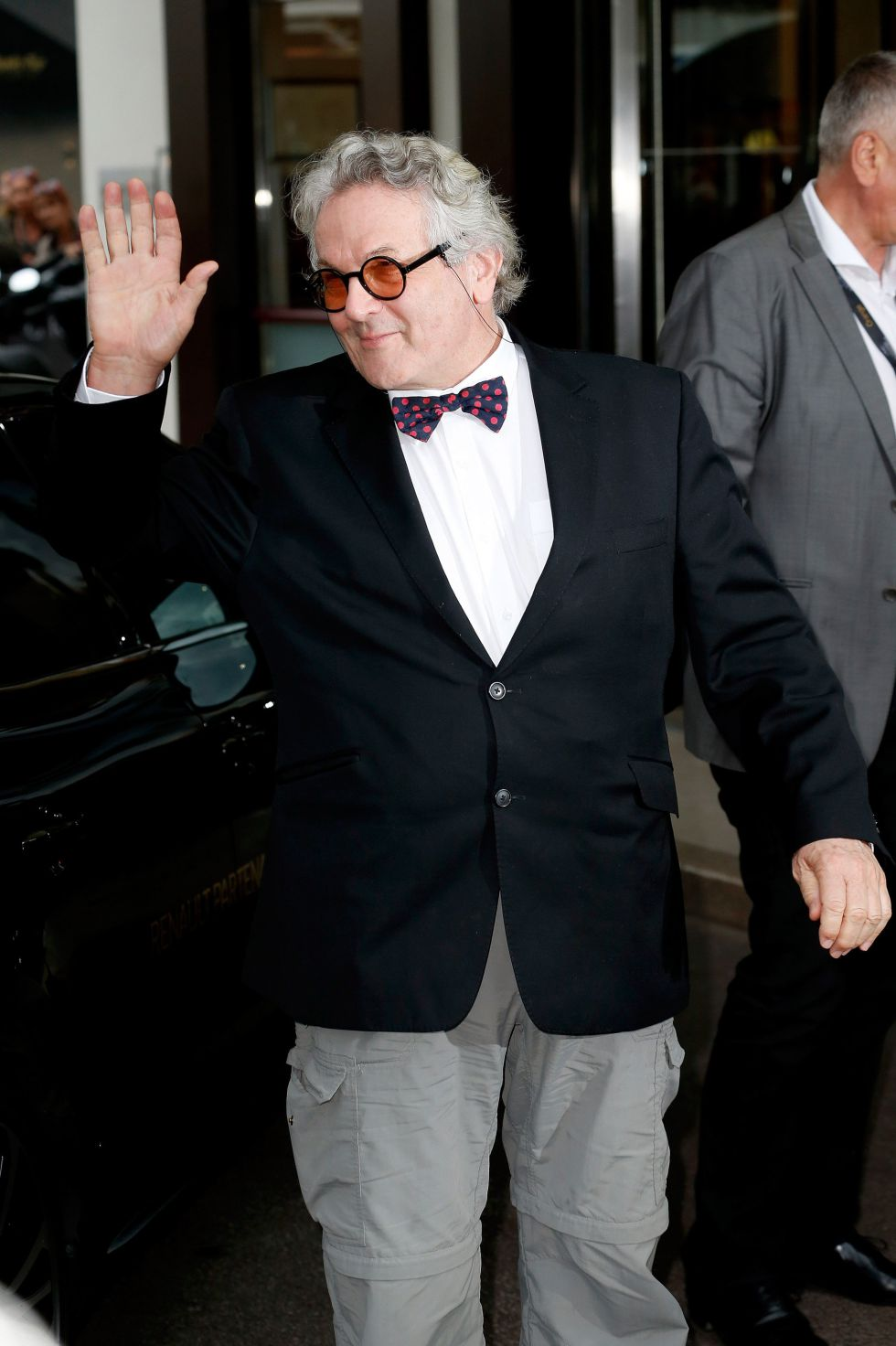 CANNES, FRANCE - MAY 10: George Miller is seen arriving at Jury Members Welcome Cocktail at Hotel Martinez during the annual 69th Cannes Film Festival at on May 10, 2016 in Cannes, France. (Photo by Luca Teuchmann/GC Images)