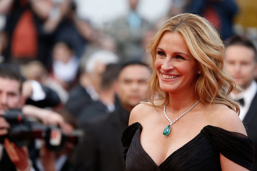 """CANNES, FRANCE - MAY 12: Julia Roberts attends the screening of """"Money Monster"""" at the annual 69th Cannes Film Festival at Palais des Festivals on May 12, 2016 in Cannes, France. (Photo by Luca Teuchmann/WireImage)"""