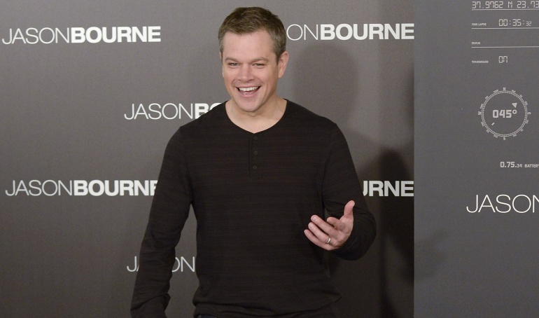 "Actor Matt Damon attends a photocall for  ""Jason Bourne"" at the Villamagna Hotel on July 13, 2016 in Madrid, Spain."