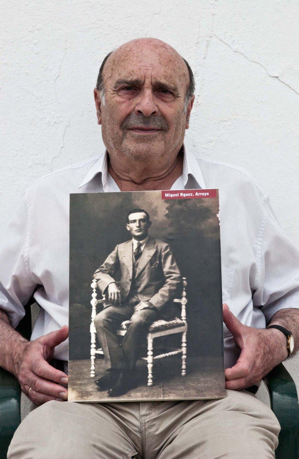 José Rodríguez Bellido, hijo de Miguel Rodríguez Arroyo, desaparecido el 16 de febrero de 1937 en Marchena (Sevilla).