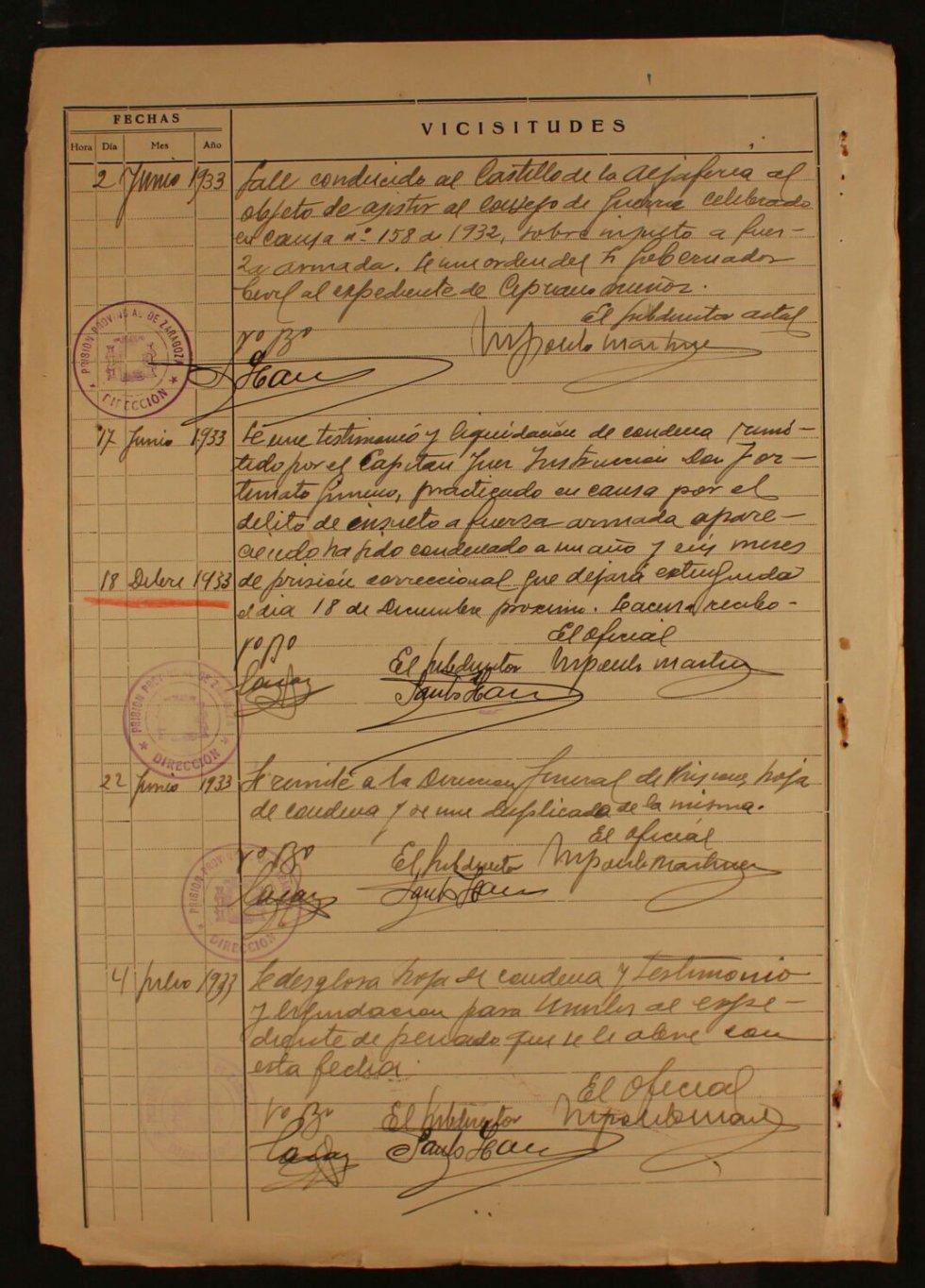 Documento pertenenciente al archivo de la Comisión Provincial de Incautaciones de Zaragoza, con fecha del 26 de julio de 1937.