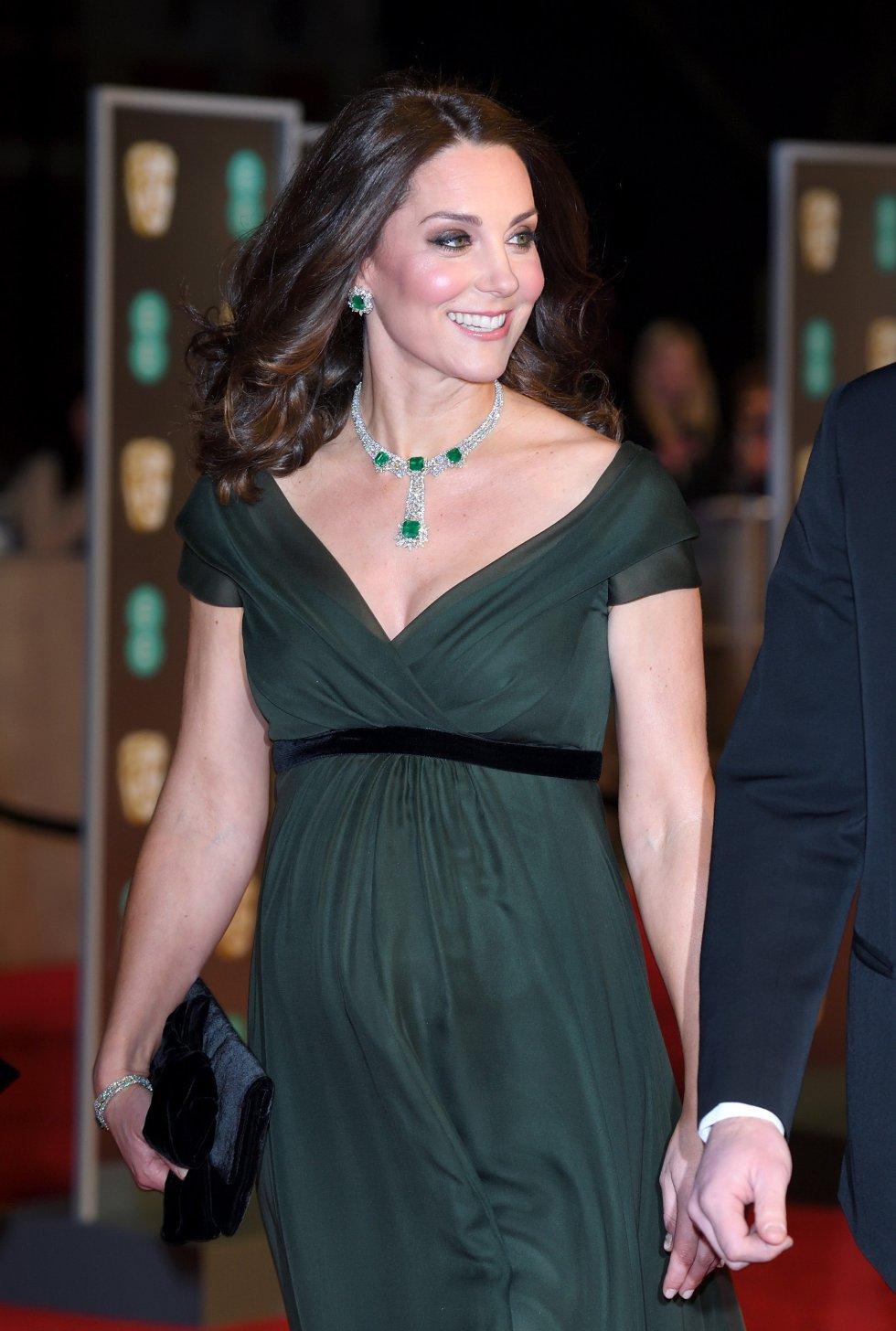 Kate Middleton, Duquesa de Cambridge, a su llegada
