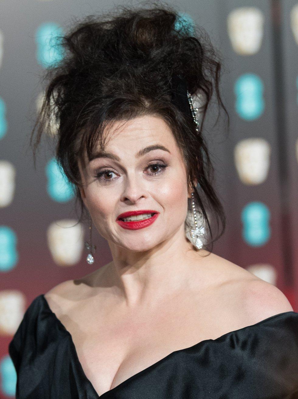 Helena Bonham Carter posa para los fotógrafos