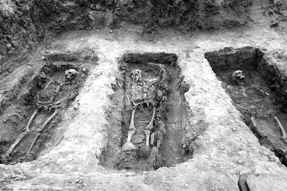 Tres cadáveres encontrados en una de las fosas del antiguo cementerio civil de Guadalajara.