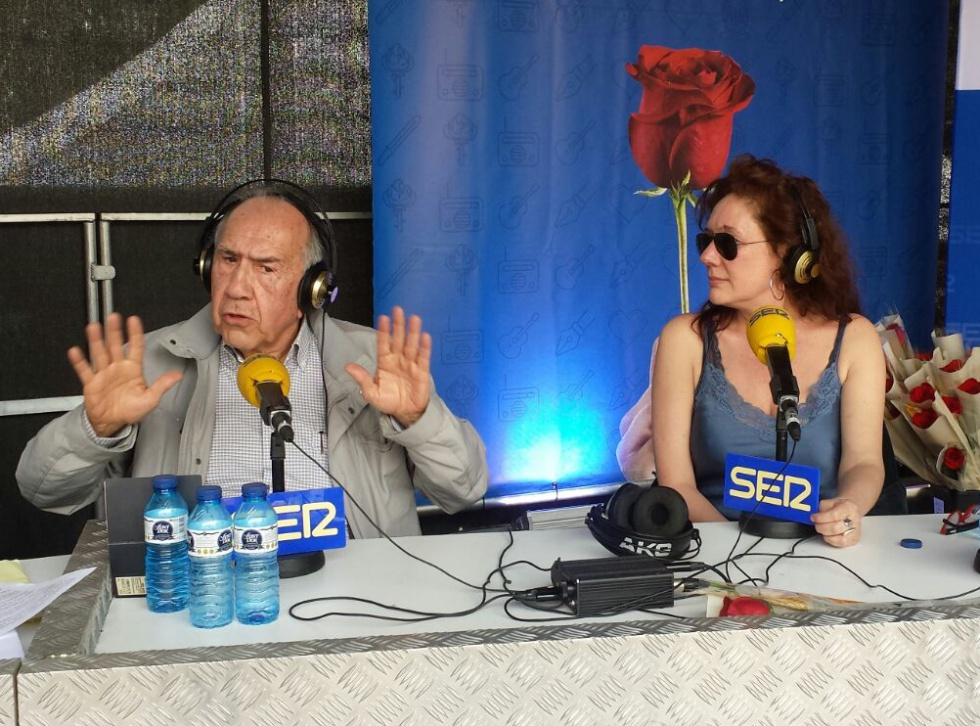 Los escritores Joan Margarit y Cristina Fallarás
