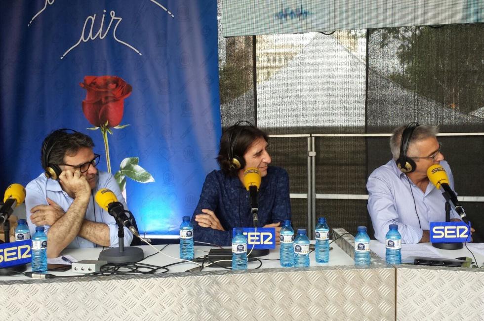(De izquierda a derecha) Rafa Vilasanjuan, Benjamín Prado y Carles Francino