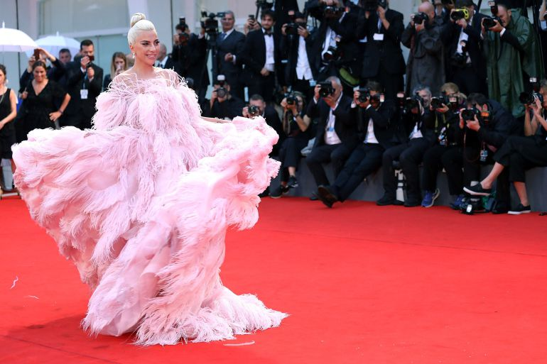 Lady Gaga walks the red carpet ahead of the 'A Star Is Born' screening during the 75th Venice Film Festival at Sala Grande on August 31, 2018 in Venice, Italy