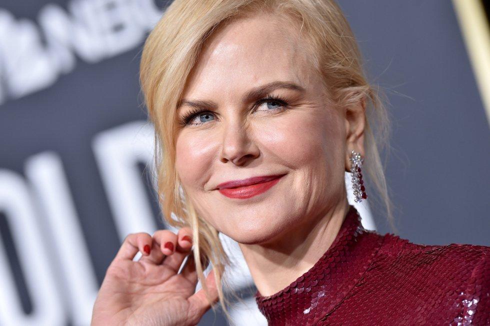 Nicole Kidman no se perdió la 76 edición de los Globos de Oro.