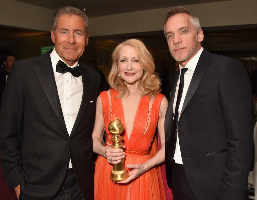 LOS ANGELES, CA - JANUARY 06:  (L-R) Richard Plepler, Patricia Clarkson and Jean-Marc Vallee attend HBO's Official 2019 Golden Globe Awards After Party on January 6, 2019 in Los Angeles, California.  (Photo by Jeff Kravitz/FilmMagic for HBO)