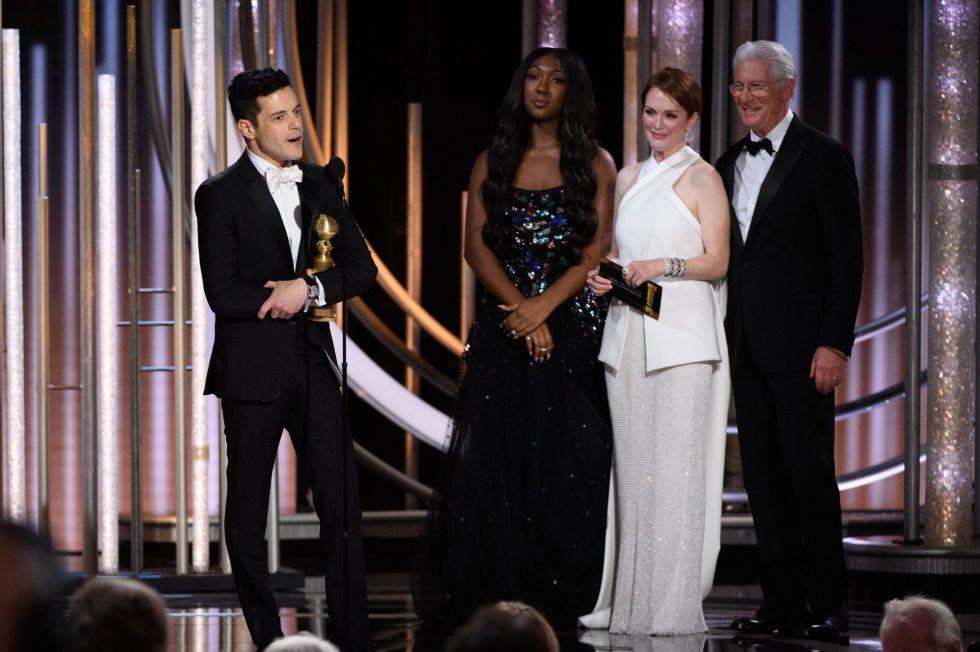 Rami Malek ha ganado el Globo de Oro al mejor actor por el biopic de Freddie Mercury 'Bohemian Rhapsody', la sorpresa de la noche.