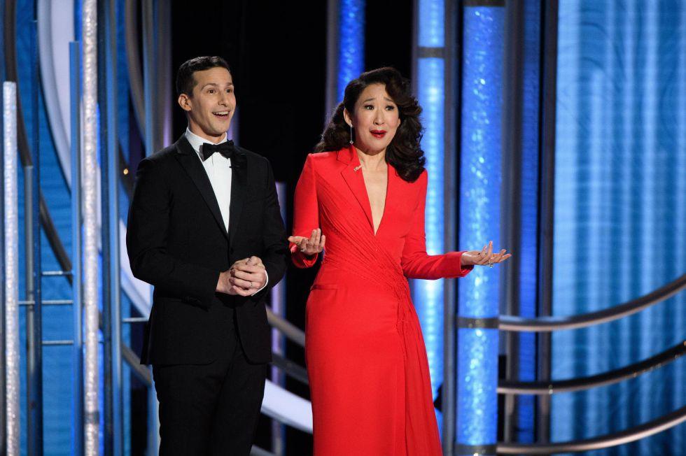 La actriz Sandra Oh, presentadora de la gala, es la segunda actriz de origen asiático que gana un Globo de Oro, en este caso por protagonizar la serie dramática 'Killing Eve'.