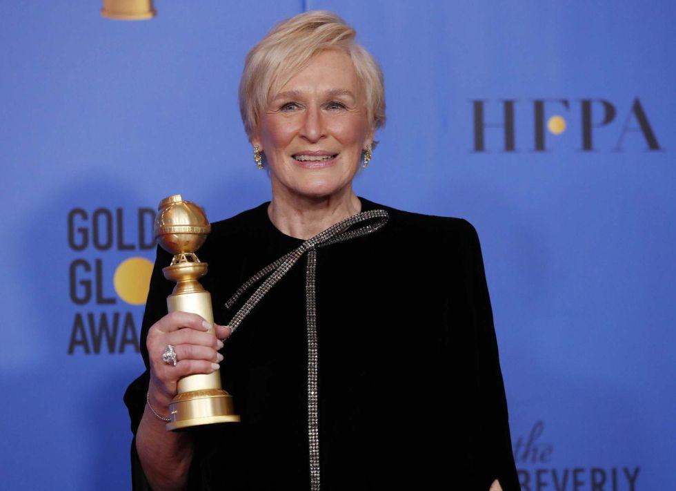Glenn Close, ganadora a mejor actriz por el drama 'La buena esposa', ha pedido a las mujeres que dejaran de cuidar a sus maridos y siguieran sus sueños.