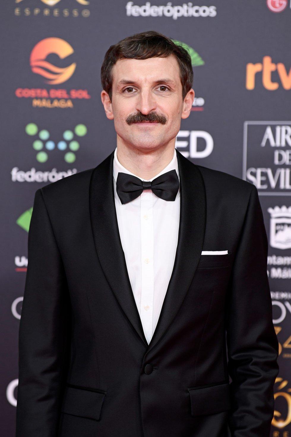 Julian Villagrán en la alfombra roja de los Premios Goya 2020