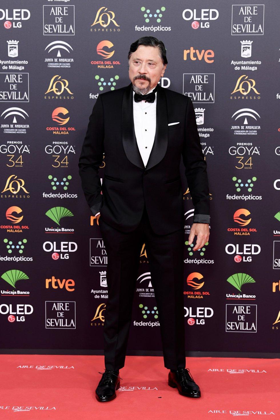 Carlos Bardem en la alfombra roja de los Premios Goya 2020.