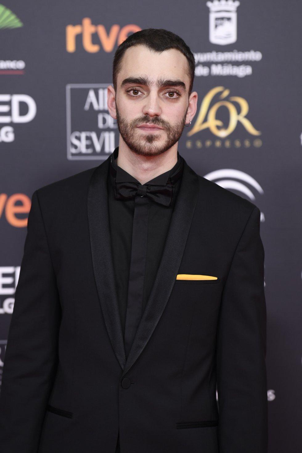 Nacho Sánchez en la alfombra roja de los Premios Goya 2020