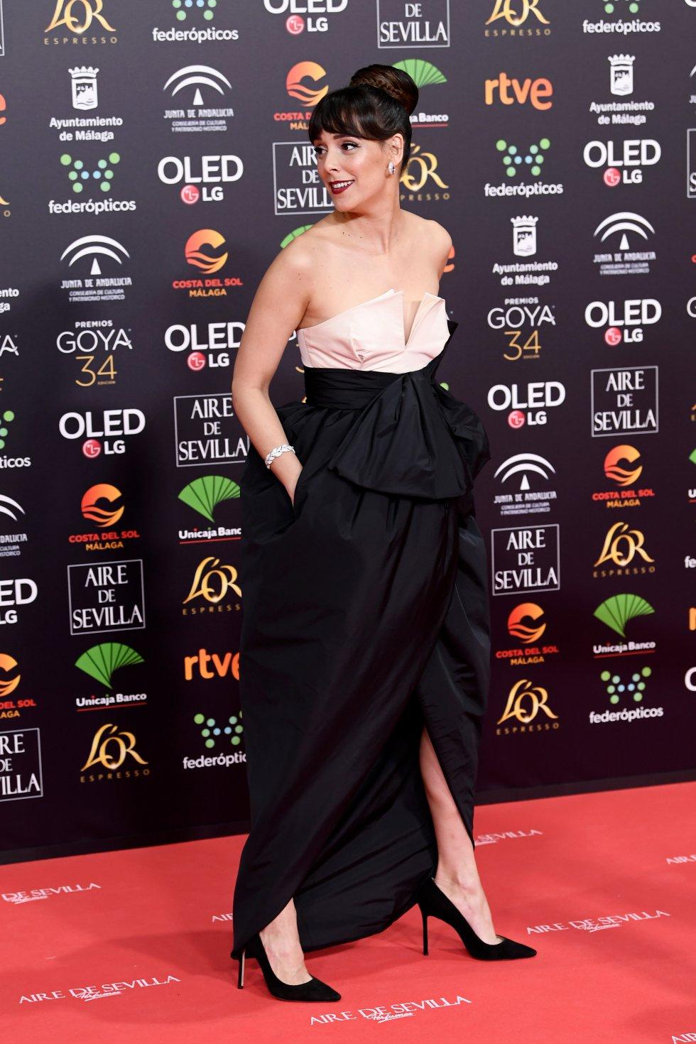 Belén Cuesta en la alfombra roja de los Premios Goya 2020