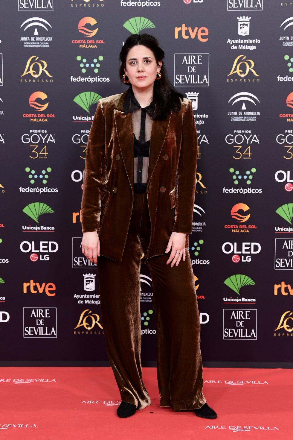 Belén Funes en la alfombra roja de los Premios Goya 2020