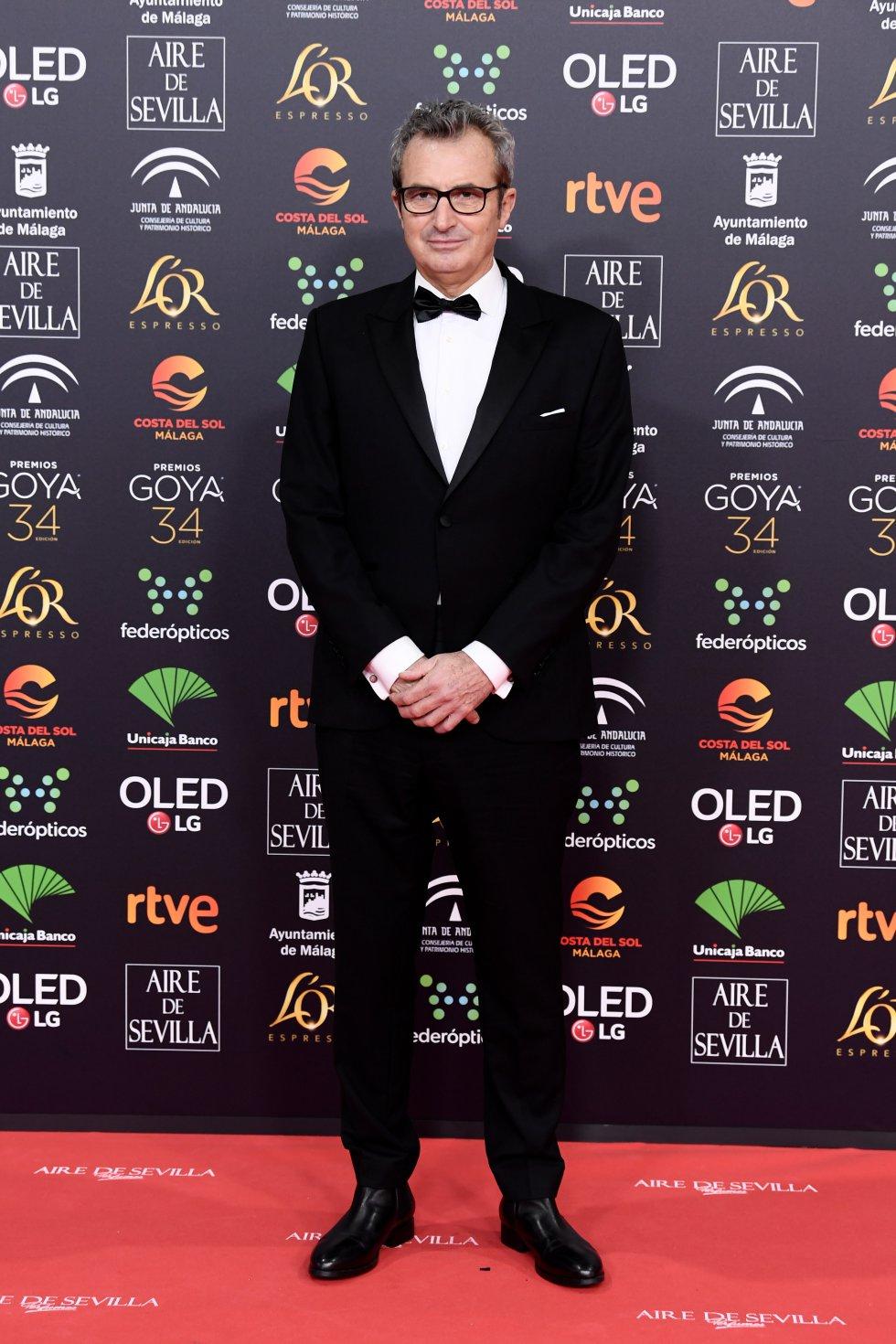 Mariano Barroso en la alfombra roja de los Premios Goya 2020