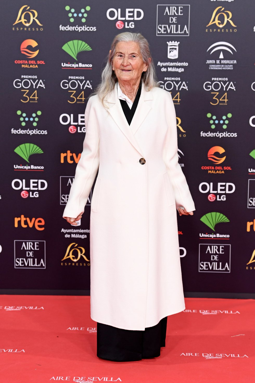 Benedicta Sánchez en la alfombra roja de los Premios Goya 2020